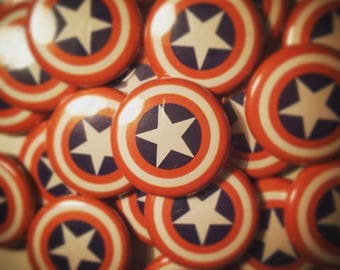 Captain America Shield 25mm Badge