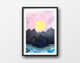 Sunrise, A4/A3 giclée illustration print