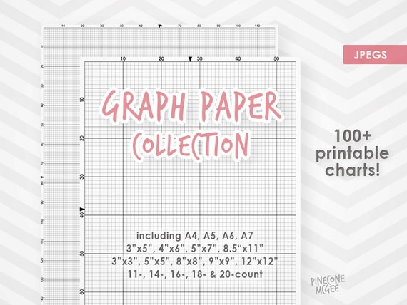 GRAPH PAPER For Cross Stitch COLLECTION, Printable Xstitch, Needlepoint,  Diy Design Grid, 14 Count, 16 Count, 18 Count, A4, Instant Download