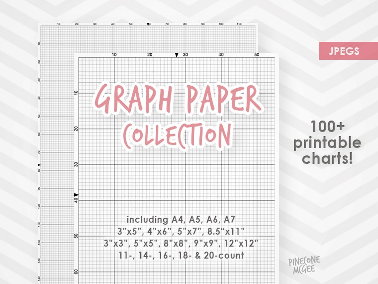 Graph Paper For Cross Stitch Collection, Printable Xstitch