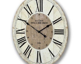 Casa Bella Clock. Rustic Design Wall clock - 6325