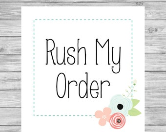 Rush Order Fee For Invitations, Announcements & Greeting Cards