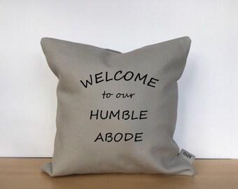 Throw pillow, custom pillow, welcome pillow, pillow cover, custom pillow case, personalized pillow, housewarming gift, decorative pillow
