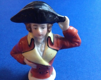 HERE COME'S The BOY! - Vintage Ceramic Half Doll