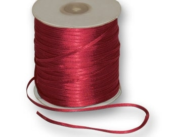 """New Double Faced Red Satin Ribbon 1/4"""" wide. Red Satin Ribbon"""