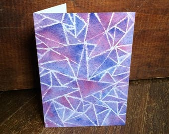 Greeting Card: Purple Stained Glass