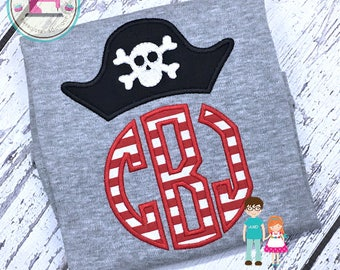Pirate Shirt Captain with Monogram, Boys Personalized Pirate Shirt, Pirate Monogram, Pirate Birthday Party
