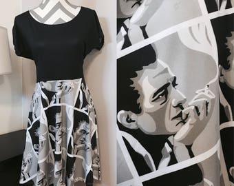 Johnny Cash Dress • Regular and Plus • johnny cash clothes • rockabilly dress • pinup dress • pinup girl • retro • concert clothing