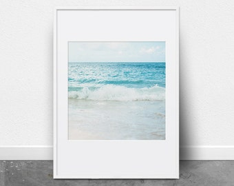 Beach Photography, Ocean Print, Downloadable Art Print, Photography Print, Ocean Art, Beach Decor, Ocean Waves, Coastal Decor, Summer