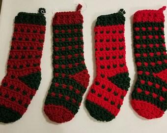 Crochet Christmas Stocking/ Ready to Ship!