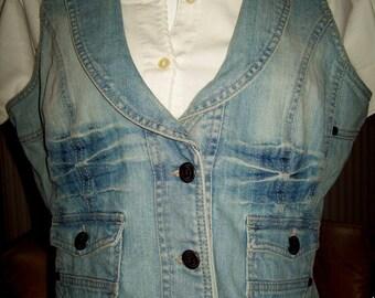Ladies Blu Motion denim waistcoat