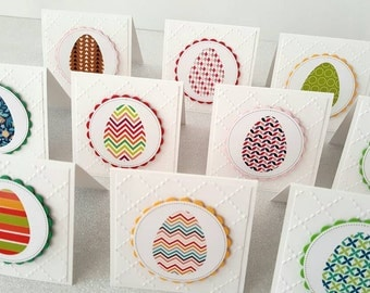 10 Mini Easter cards / Easter egg cards / easter cards / happy easter cards / easter egg / easter egg hunt / cards with envelopes