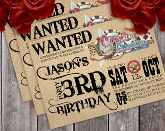 Western Birthday Party Invitation - Boy or Girl