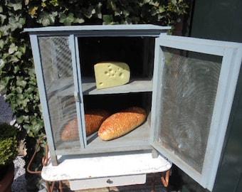 french vintage fly cupboard,fridge,bread cupboard,cabinet,wire mesh cupboard,cheese cupboard,old french farm,1930