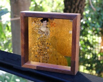 Gustav Klimt Portrait of Adele Bloch-Bauer Translucent Handmade Lightbox See-through art that glows in natural light