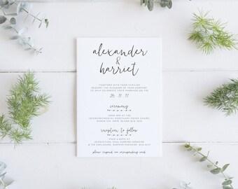 Modern & Minimal Invitation - Printable Design