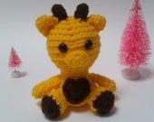 Giraffe Mini Amigurumi Stuffed Animal Plush Toy,Giraffe Crochet Plush,Party Favors,Miniature Giraffe, Plushie Giraffe Ready to Ship