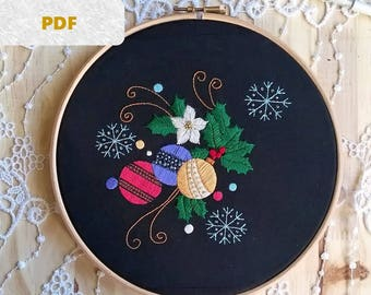 embroidery pattern pdf - hand embroidery pdf  - pdf pattern - embroidery pattern - embroidery hoop art -  Embroidery design