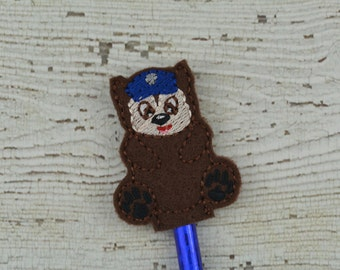 Chase Pencil Toppers - Paw Patrol Inspired - Party Favor - Valentine - Small Gift - Back to School