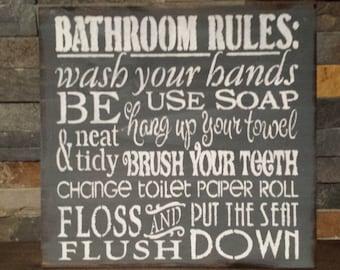 Bathroom Rules bathroom rules | etsy