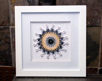 Quilled Paper Art Mandala in Neutrals