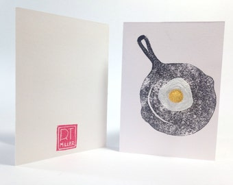 Good egg embroidered egg broach  greeting card