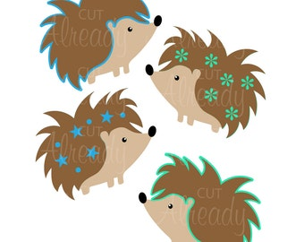 Hedgehog - SVG cut file - PNG, DXF - For Silhouette, Cricut, Card making, Scrapbooking -Instant Digital Download