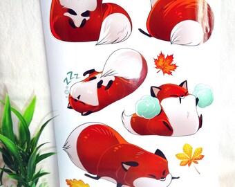 Fox potatoe Sticker sheet