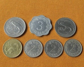 Vintage Malta Coins, Coins from Europe for Jewelry Making, Unusual Coins, Coins from Malta