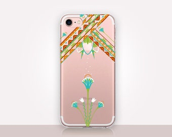 Egyptian Art Deco Clear Phone Case - Clear Case - For iPhone 8, 8 Plus, X, iPhone 7 Plus, 7, SE, 5, 6S Plus, 6S,6 Plus, Samsung S8,S8 Plus