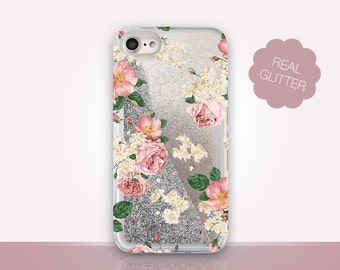 Romantic Roses Glitter Phone Case Clear Case For iPhone 8 iPhone 8 Plus - iPhone X - iPhone 7 Plus - iPhone 6 - iPhone 6S - iPhone SE