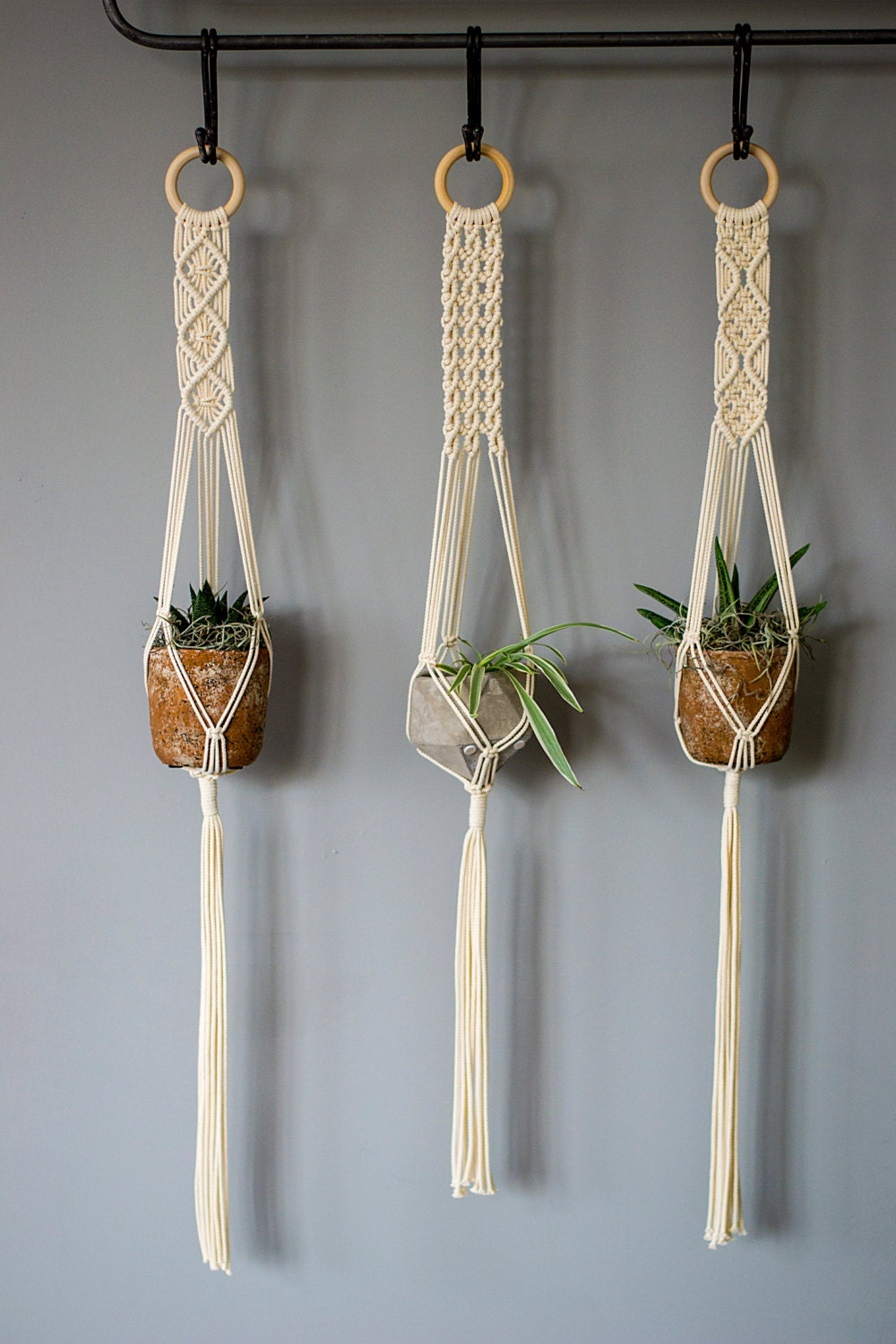 Macrame Plant Hangers 38 Inch 1 8 Inch Braided Cotton Cord