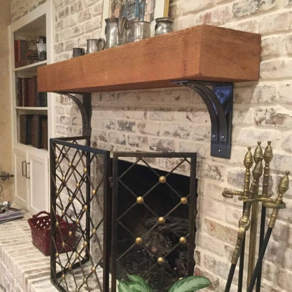 NEW ITEM!!! Saranac Brackets and Corbels.  Includes two brackets. HAND MADE USING 100% U.S.A. STEEL!!!  The Saranac line of shelf brackets and corbels includes a dual arcing gusset