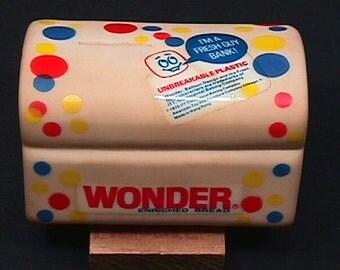 Vintage Rubber Wonder Bread  Enriched Bread Bank in Great Condition