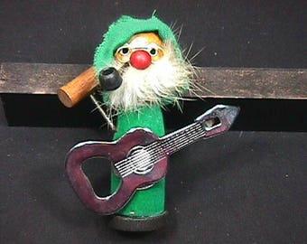 Vintage 1960's Bobbin Head Guitar Player Bar Top Bottle Opener