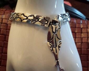 Sterling silver vintage snake bracelet