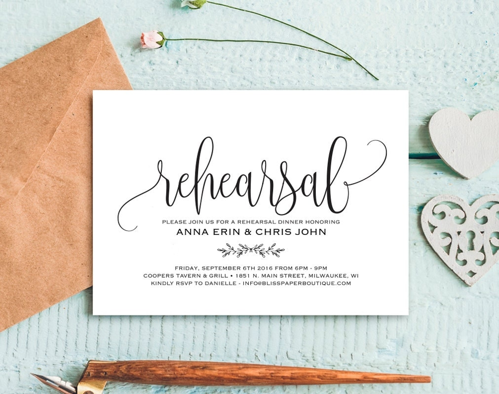 Who Is Invited To The Wedding Rehearsal Dinner: Rehearsal Dinner Invitation Rehearsal Dinner Invitation