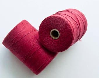 Red Cotton Warp Thread || Weaving supplies warp thread fiber art DIY weaving DIY boho