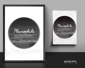 Pluviophile  | Quote | Printable wall Art