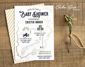 Adventure Baby Shower Invitation-DIY Printable