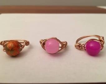 Beaded Ring- Rose Gold