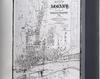 Canvas 24x36; 1857 Map Of Albany