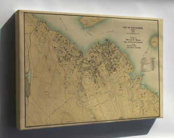Canvas 24x36; Map Of Bar Harbor, Maine, 1896