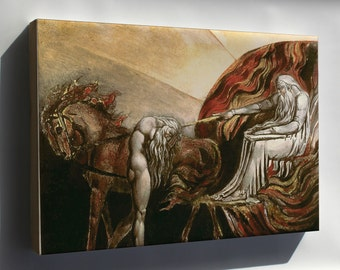 Canvas 16x24; God Judging Adam Blake 1795