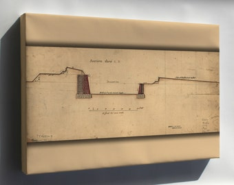 Canvas 16x24; Governors Island Fortifications New York 1766
