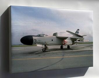 Canvas 16x24; Douglas Nra-3B Skywarrior With Jammer Pods,1982
