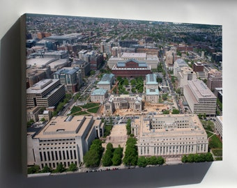 Canvas 16x24; Aerial View Of Judiciary Square