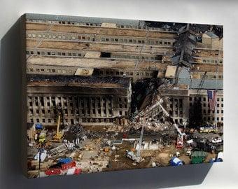 Canvas 16x24; Pentagon September 11 9 11