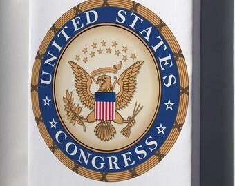 Canvas 16x24; United States Congress
