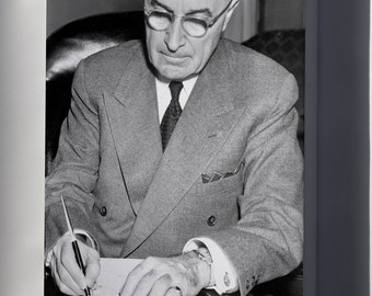 Canvas 16x24; President Truman Signing A Proclamation Declaring A National Emergency That Initiates U.S. Involvement In The Korean War